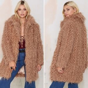 Nasty Gal - Supertrash Orson Shaggy Coat  - NBW